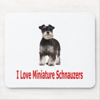 I Love My Miniature Schnauzer Mouse Mat