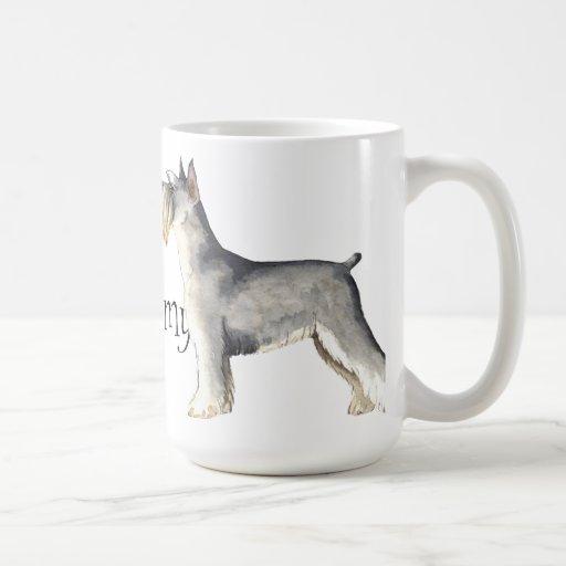 I Love my Miniature Schnauzer Coffee Mugs
