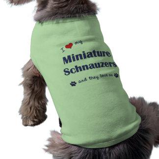 I Love My Miniature Schnauzers (Multiple Dogs) Sleeveless Dog Shirt