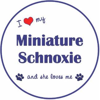 I Love My Miniature Schnoxie (Female Dog) Photo Sculpture Decoration