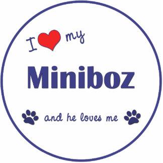 I Love My Miniboz (Male Dog) Photo Sculpture Decoration