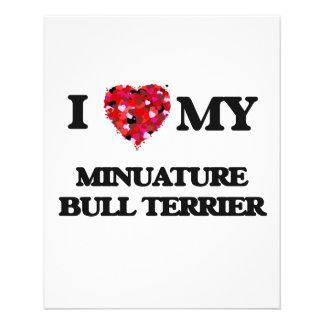 I love my Minuature Bull Terrier 11.5 Cm X 14 Cm Flyer