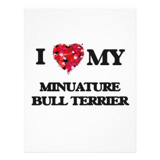 I love my Minuature Bull Terrier 21.5 Cm X 28 Cm Flyer