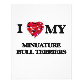 I love my Minuature Bull Terriers 11.5 Cm X 14 Cm Flyer