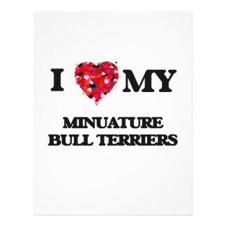 I love my Minuature Bull Terriers 21.5 Cm X 28 Cm Flyer