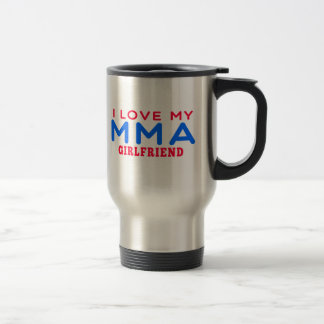 I Love My Mixed martial arts Girlfriend 15 Oz Stainless Steel Travel Mug