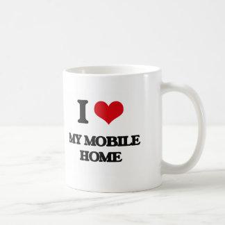 I Love My Mobile Home Basic White Mug
