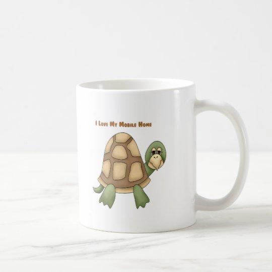 I Love My Mobile Home Turtle Coffee Mug