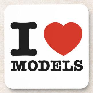 I love my models drink coasters