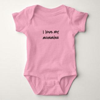 """I love my mommies"" Baby Bodysuit"