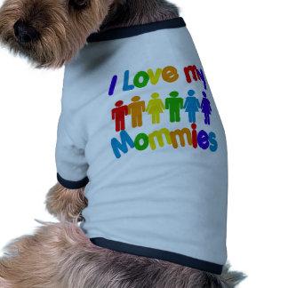 I Love my Mommies Dog Tee Shirt