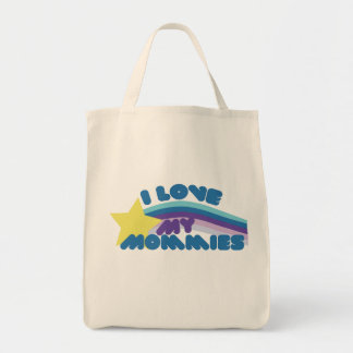I Love my Mommies Grocery Tote Bag
