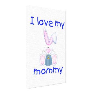 I love my mommy boy bunny canvas prints
