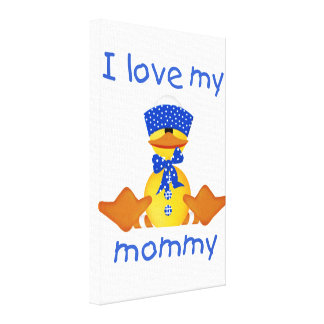 I love my mommy boy duck gallery wrap canvas