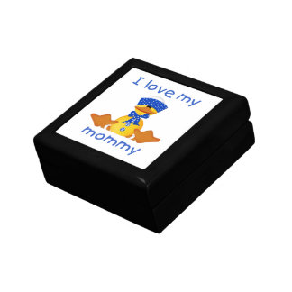 I love my mommy (boy duck) small square gift box