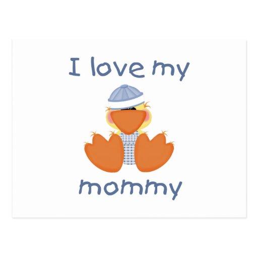 I love my mommy (boy ducky) post card