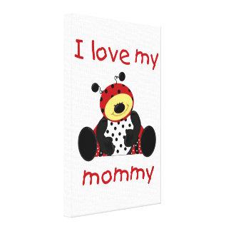 I love my mommy boy ladybug gallery wrap canvas