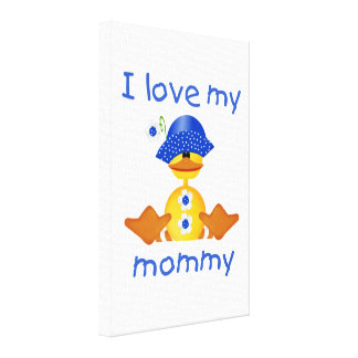 I love my mommy girl duck gallery wrap canvas