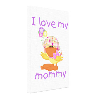 I love my mommy girl ducky canvas prints