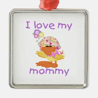 I love my mommy (girl ducky) christmas ornament