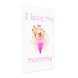 I love my mommy girl flutterbug canvas prints
