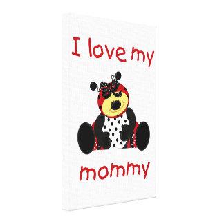 I love my mommy girl ladybug canvas print