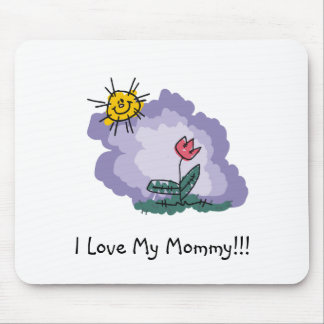 I Love My Mommy Mouse Mat
