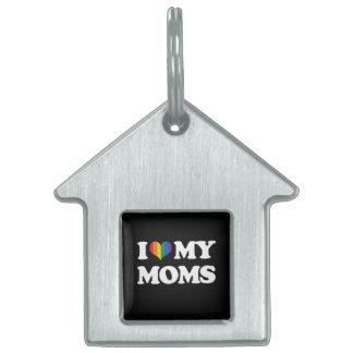 I LOVE MY MOMS PET TAGS
