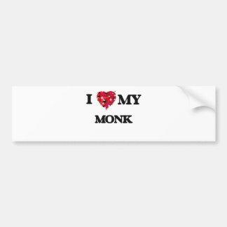 I love my Monk Bumper Sticker