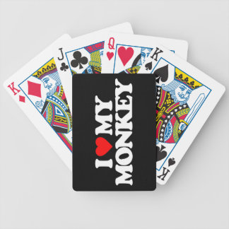 I LOVE MY MONKEY BICYCLE PLAYING CARDS