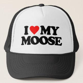 I LOVE MY MOOSE TRUCKER HAT