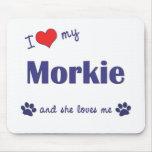I Love My Morkie (Female Dog) Mouse Pad