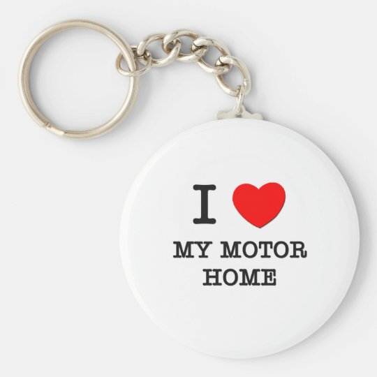 I Love My Motor Home Basic Round Button Key Ring