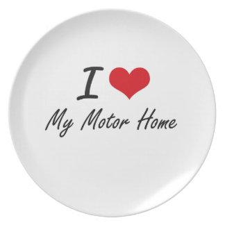 I Love My Motor Home Dinner Plate