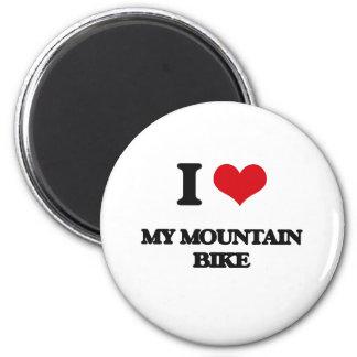 I Love My Mountain Bike Fridge Magnet