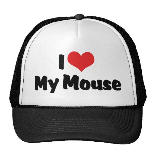 I Love My Mouse Hat