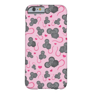 I love my mouse pattern in pink barely there iPhone 6 case