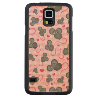 I love my mouse pattern in pink carved maple galaxy s5 case