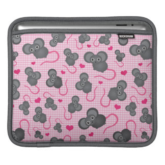 I love my mouse pattern in pink iPad sleeve