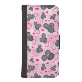 I love my mouse pattern in pink iPhone SE/5/5s wallet case