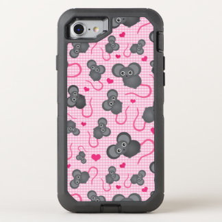 I love my mouse pattern in pink OtterBox defender iPhone 8/7 case