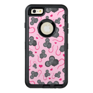 I love my mouse pattern in pink OtterBox defender iPhone case