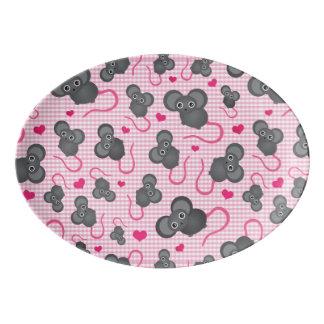 I love my mouse pattern in pink porcelain serving platter