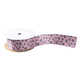 I love my mouse pattern in pink satin ribbon