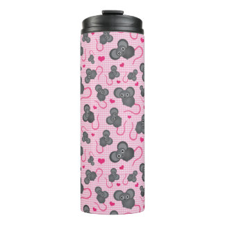 I love my mouse pattern in pink thermal tumbler