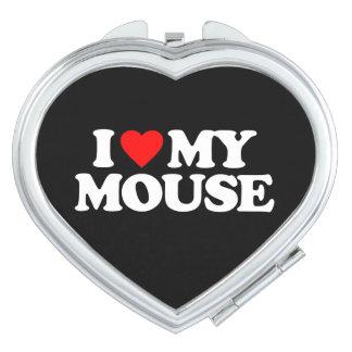 I LOVE MY MOUSE TRAVEL MIRROR
