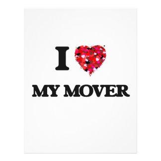 I Love My Mover 21.5 Cm X 28 Cm Flyer
