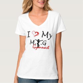 I Love My MTG Gymnast v-neck Shirt