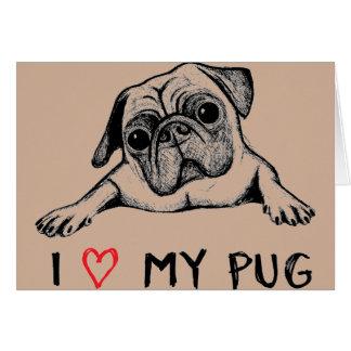 I love my Mug design Greeting Card