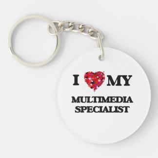 I love my Multimedia Specialist Single-Sided Round Acrylic Key Ring